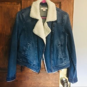 Sherpa Lined Denim Jacket - Mossimo size small